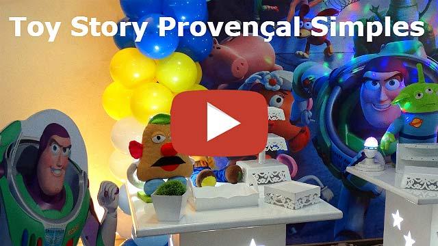 Vídeo decoração Toy Story provençal simples