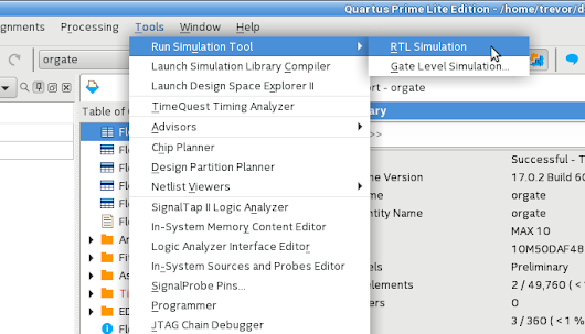 Running ModelSim-Altera from the Quartus Prime Lite IDE under Linux