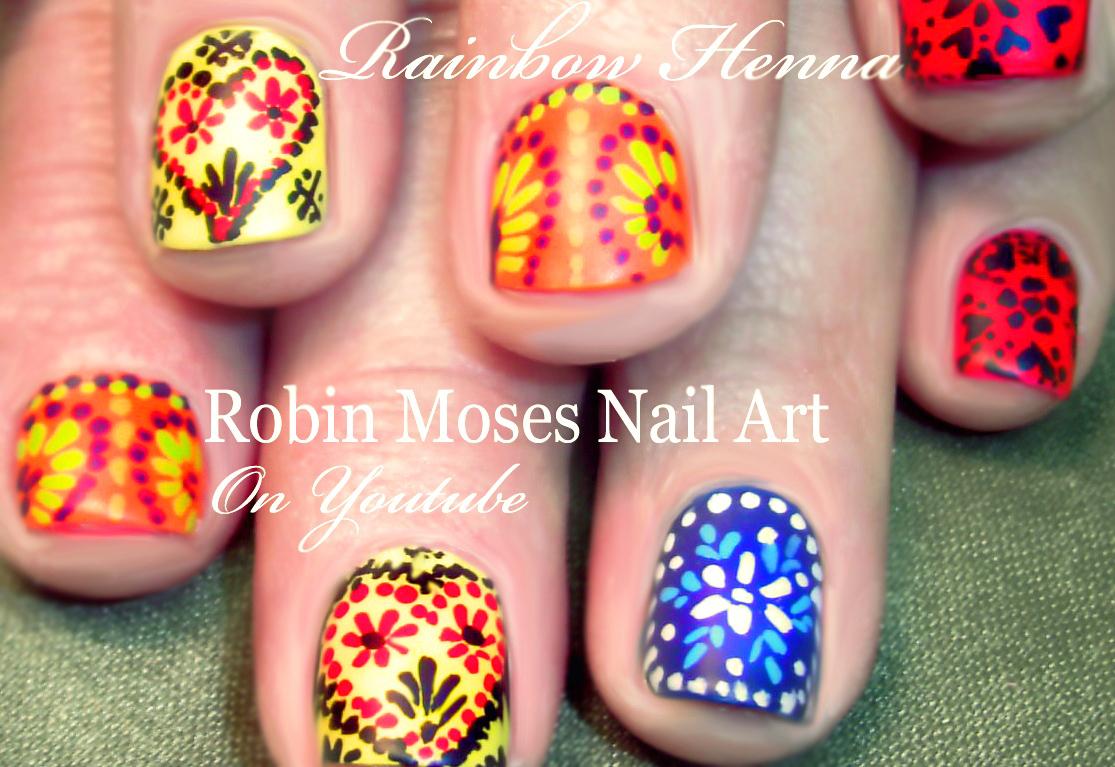 Robin Moses Nail Art Easy Matte Rainbow Nails Quotrainbow Nails