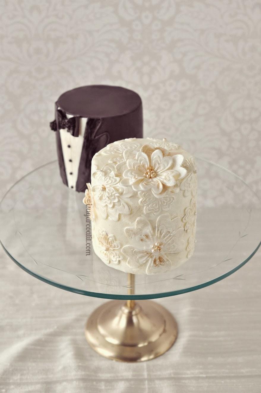 Mini Vintage Wedding Cakes I Sugar Coat It