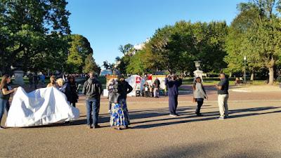 La zona de protestas frente a la Casa Blanca