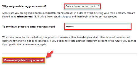 how to permanently delete instagram chat