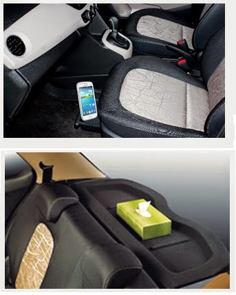 Fitur  Interior Mobil Hyundai Grand i10 - gadget tray and luggage cover