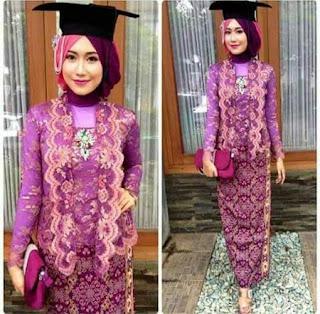 kebaya kutu baru hijab untuk wisuda