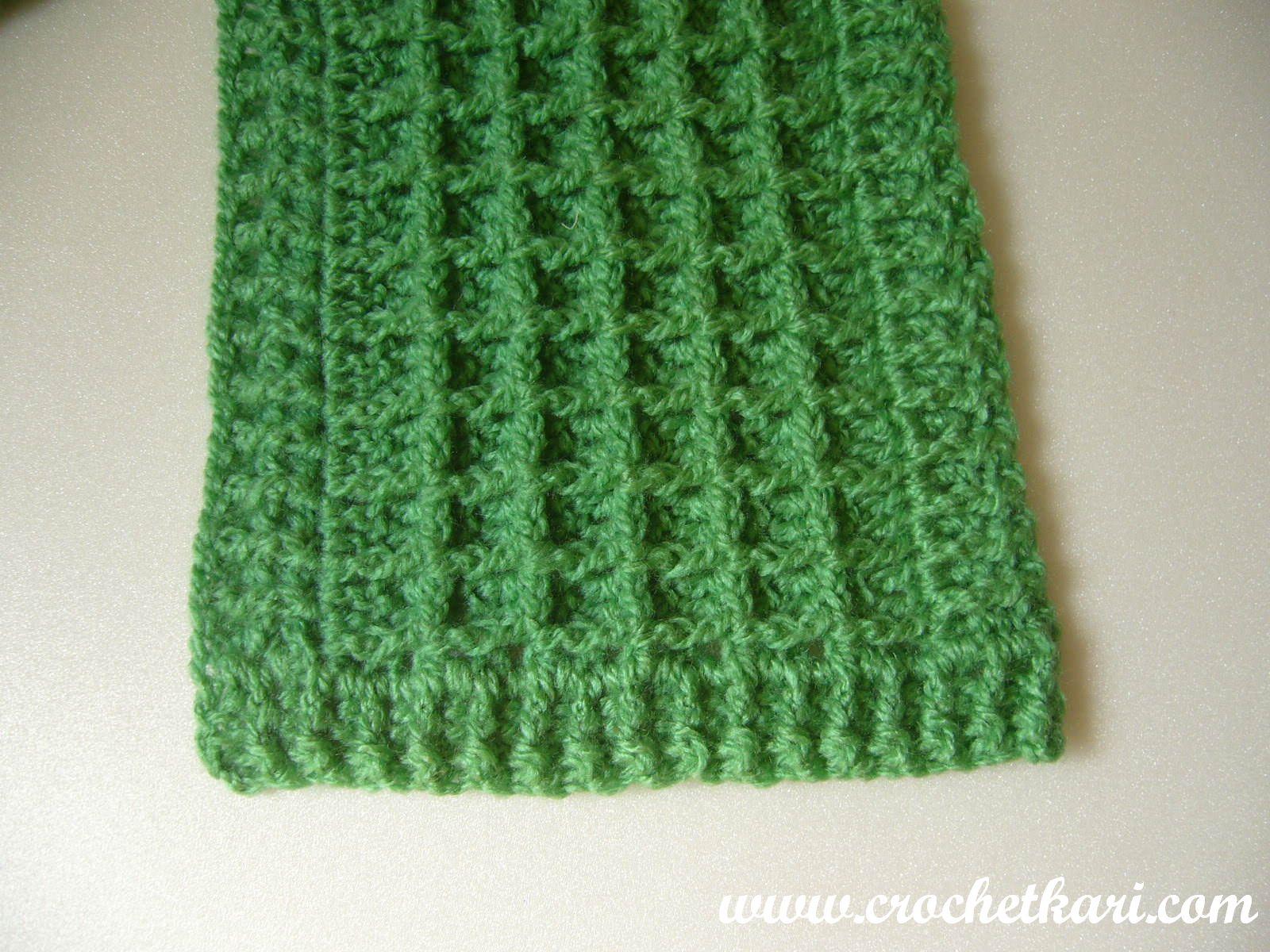 Crochetkari: Waffle Stitch Scarf - First pattern of 2016