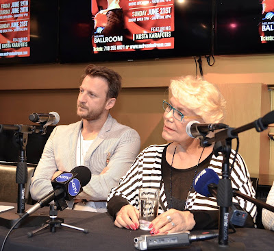 Η Μαρινέλλα και ο Κώστας Καραφώτης σε Συντέντευξη Τύπου στην Αστόρια, στις 17 Ιουνίου 2015.