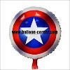 Balon Foil Bulat Tameng CAPTAIN AMERICA