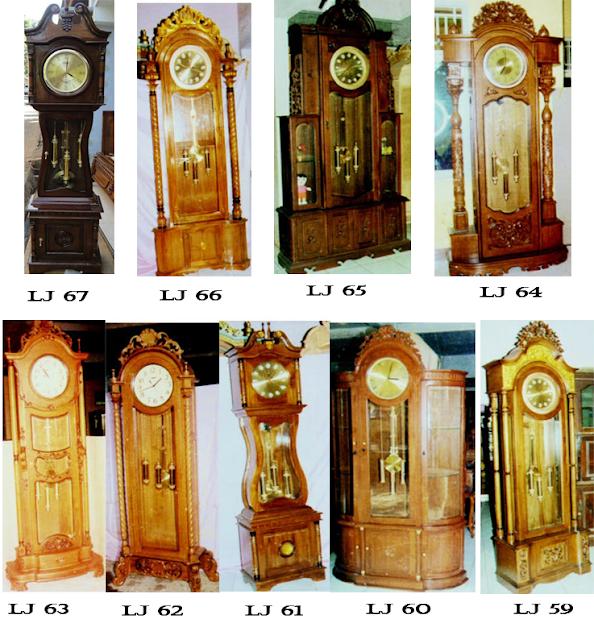 wooden standing clock