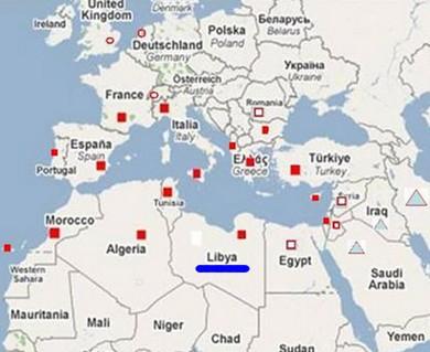 Libya. Libya Nerde. Libya haritası