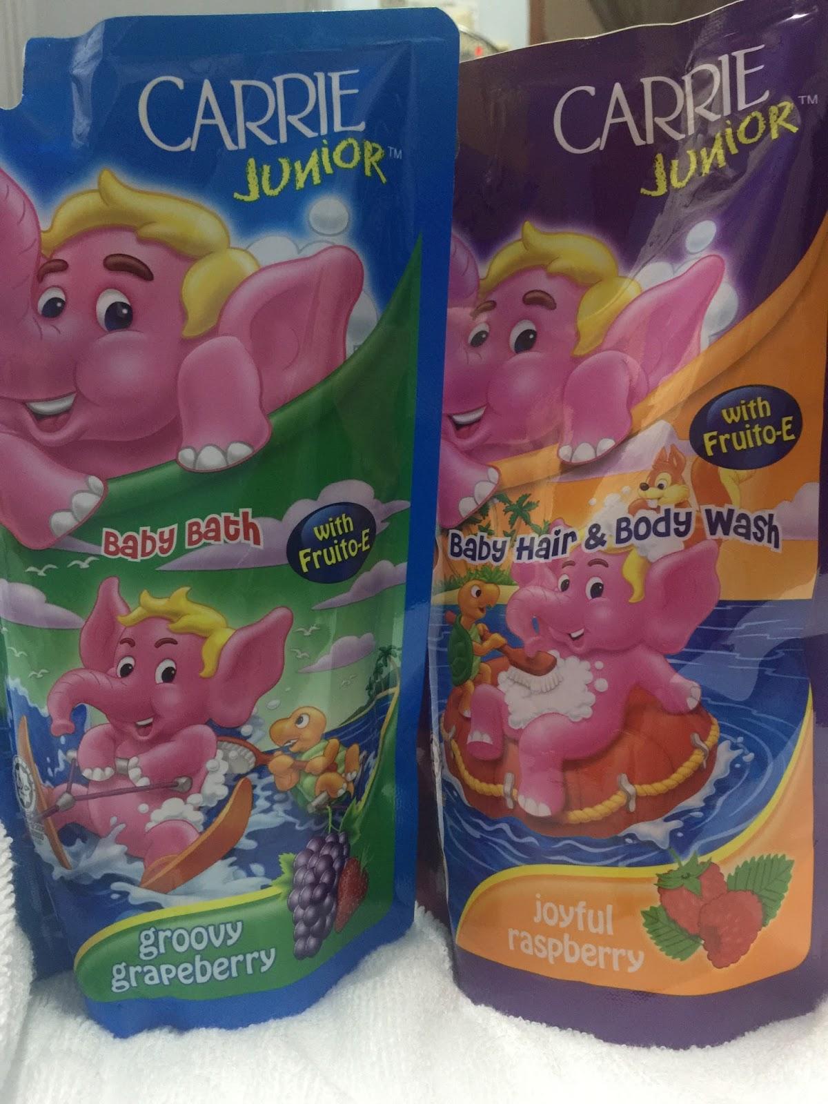 carrie junior, istimewa untuk anak-anak, pek isian semula sabun mandi