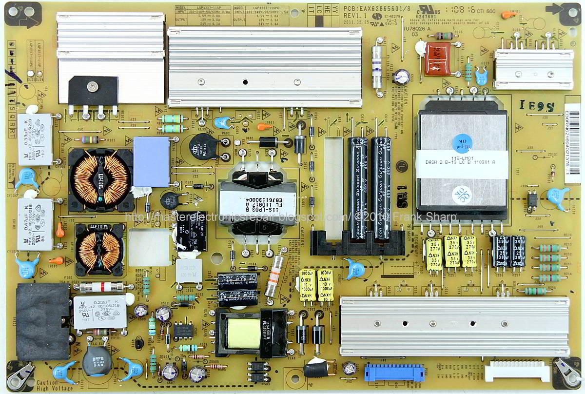 Master Electronics Repair    Lg P3237 11spc1 Lcd Tv Smps Circuit Diagram Eax62865601