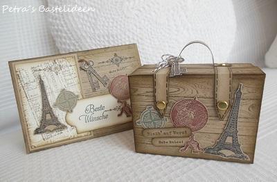 Petra S Bastelideen Koffer Und Karte Fur Den Urlaub