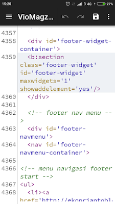 Cara edit html blog via android