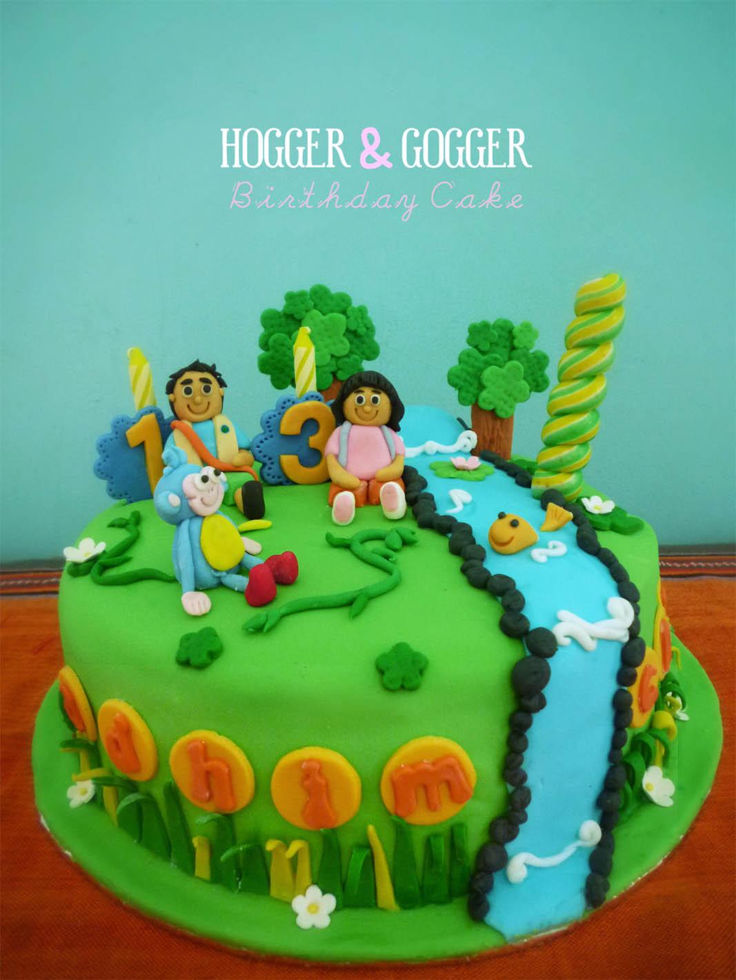 Hogger Amp Gogger Diego And Dora Birthday Cake