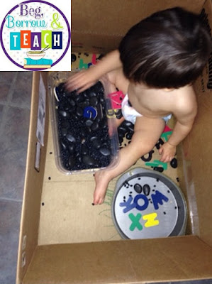 Beg, Borrow, and Teach!: Alphabet sensory box.