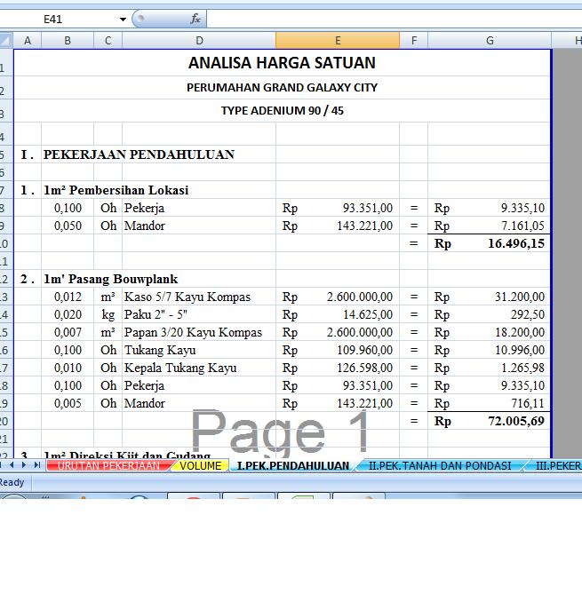 Contoh Rab Rumah 2 Lantai Excel Download