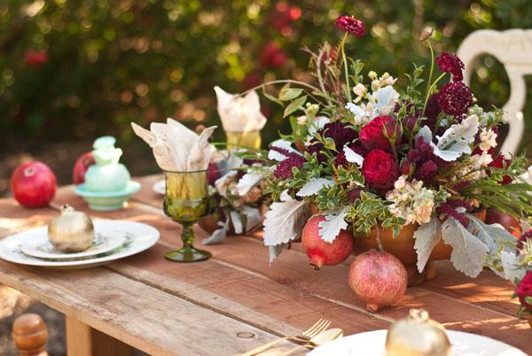 Ruche Wedding Wednesday Creative Lighting Ideas: Ruche: Wedding Wednesday: Winter Pomegranate Accents