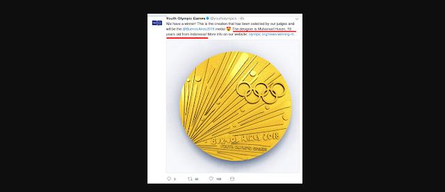 Menjadi Kebanggaan Bangsa, Muhamad Farid Husen Menjadi Pemenang Lomba Desain Medali Olimipade 2018