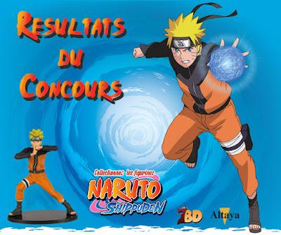 Résultats du concours Naruto avec Altaya