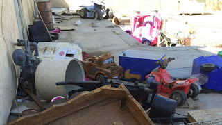 Yard is just part of the filth Victorville California