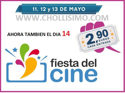 Fiesta del cine Mayo-entradas a 2,9€-chollo