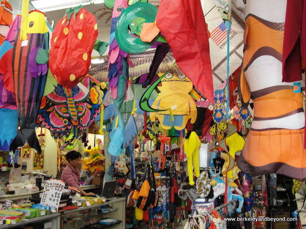 interior of Chinatown Kite Shop in San Francisco