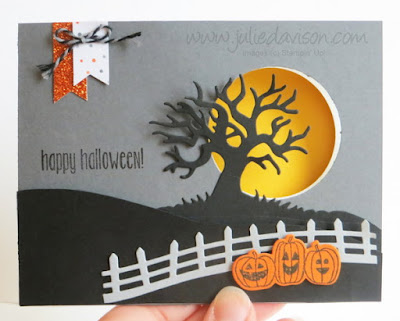 Stampin' Up! Spooky Fun Halloween Peek-a-boo Flip Card #stampinup 2016 Holiday Catalog fun fold card www.juliedavison.com