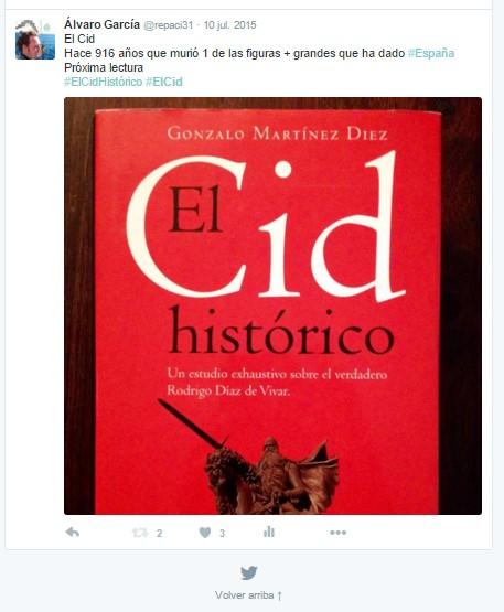 El Cid Histórico - Gonzalo Martínez Díez - Planeta - Álvaro García - el troblogdita - ÁlvaroGP - El Cid - Rodrigo Díaz de Vivar - Twitter - @repaci31