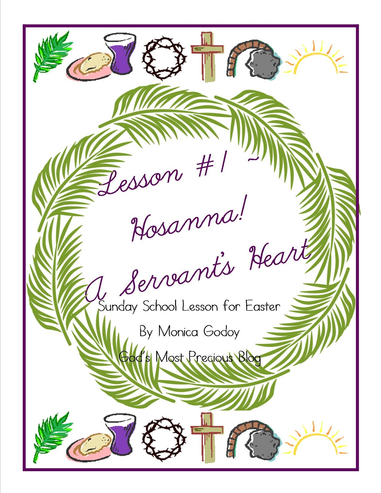 God S Most Precious Easter Sunday School Lesson 1 Printable