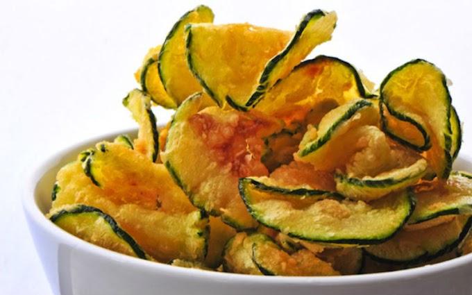 Chips de abobrinha: casquinha crocante e cheio de sabor