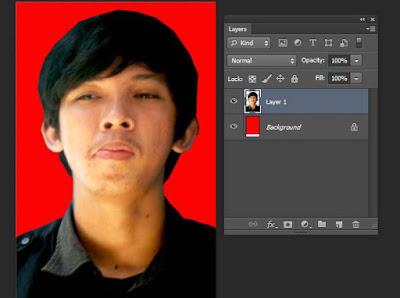 hasil membuat pas foto di photoshop