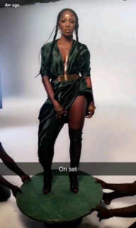 , Charming and sexy pose of Tiwa Savage on set for her new Video (Photos), Latest Nigeria News, Daily Devotionals & Celebrity Gossips - Chidispalace