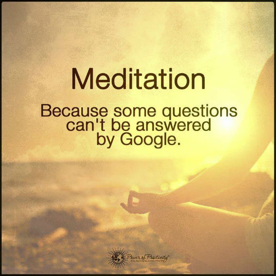 Meditation Quotes Meditation Because Some Questions Can't Be Answeredgoogle  Quote