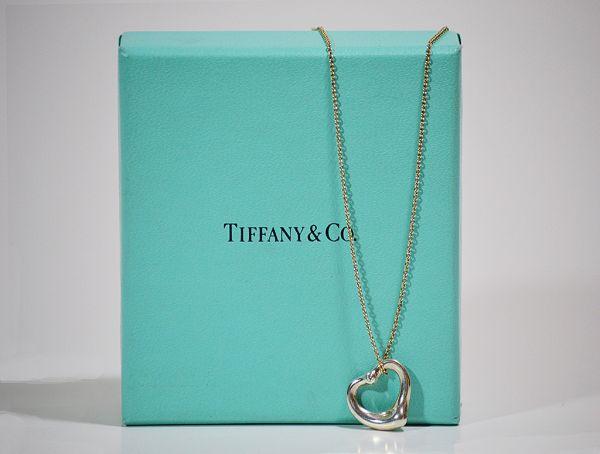 Past present designer consignment boutique tiffany co elsa tiffany co elsa peretti open heart pendant silver aloadofball Images