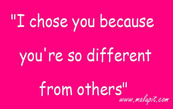 Sweet Love Quotes You Re So Different From Others Life Quotes