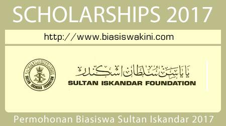 Permohonan Biasiswa Sultan Iskandar Foundation 2017