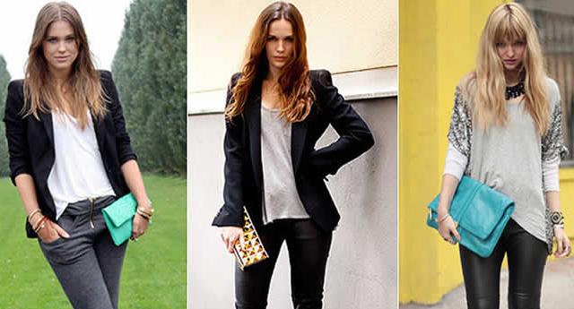 Mulheres usando bolsa carteira