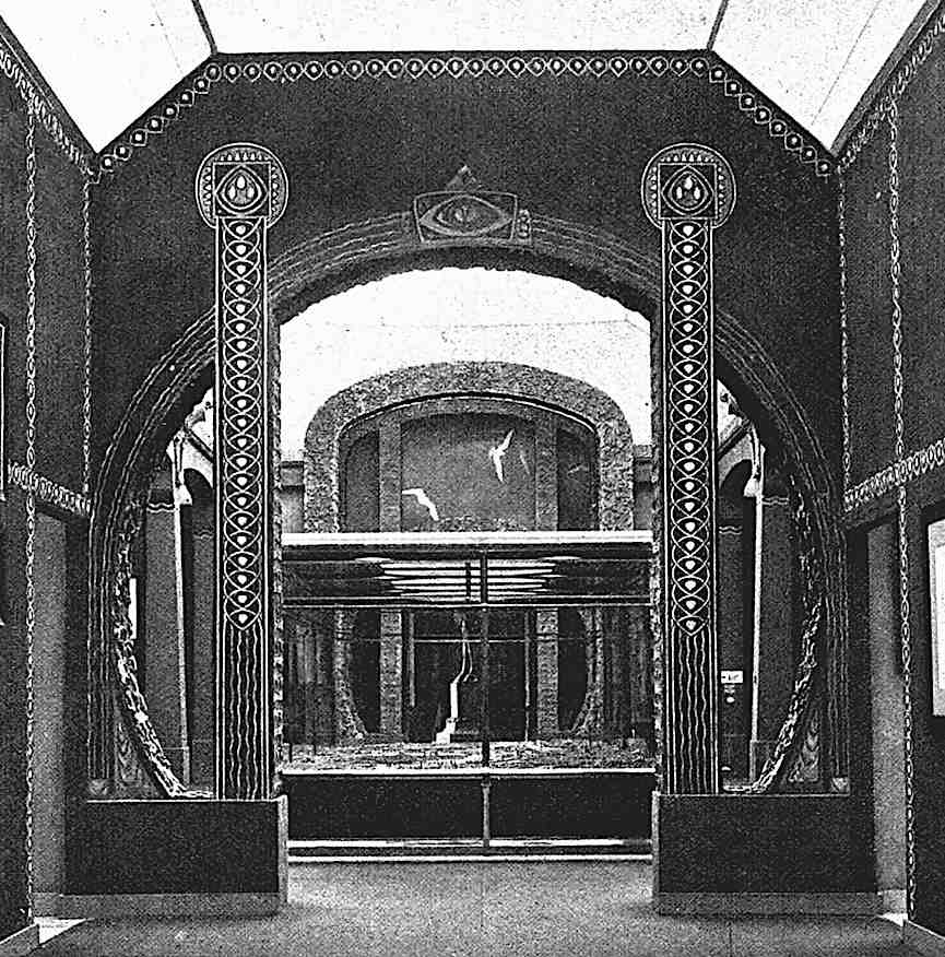 the 1903 Dresden art exhibition, a photograph of a decorated interior gateway