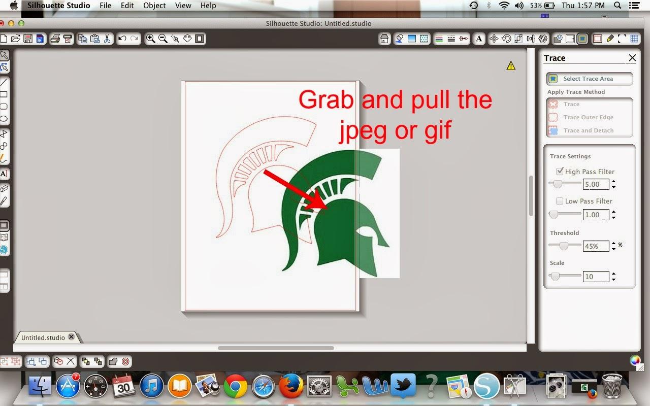 JPEG, cut, Silhouette Studio, free, Silhouette tutorial, trace