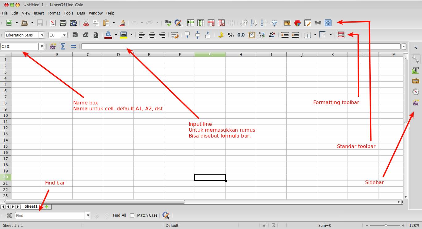 Bagian LibreOffice Calc