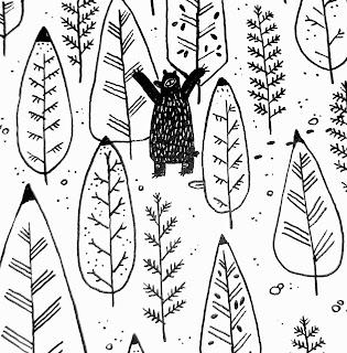 aline faucoulanche - melle chocolatine - papier découpé - illustration -