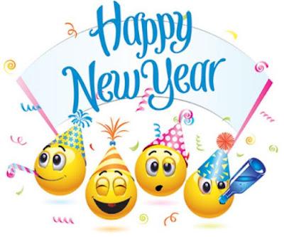 Gambar Kartun Lucu Ucapan Selamat Tahun Baru 2017 Happy New Year Smiley