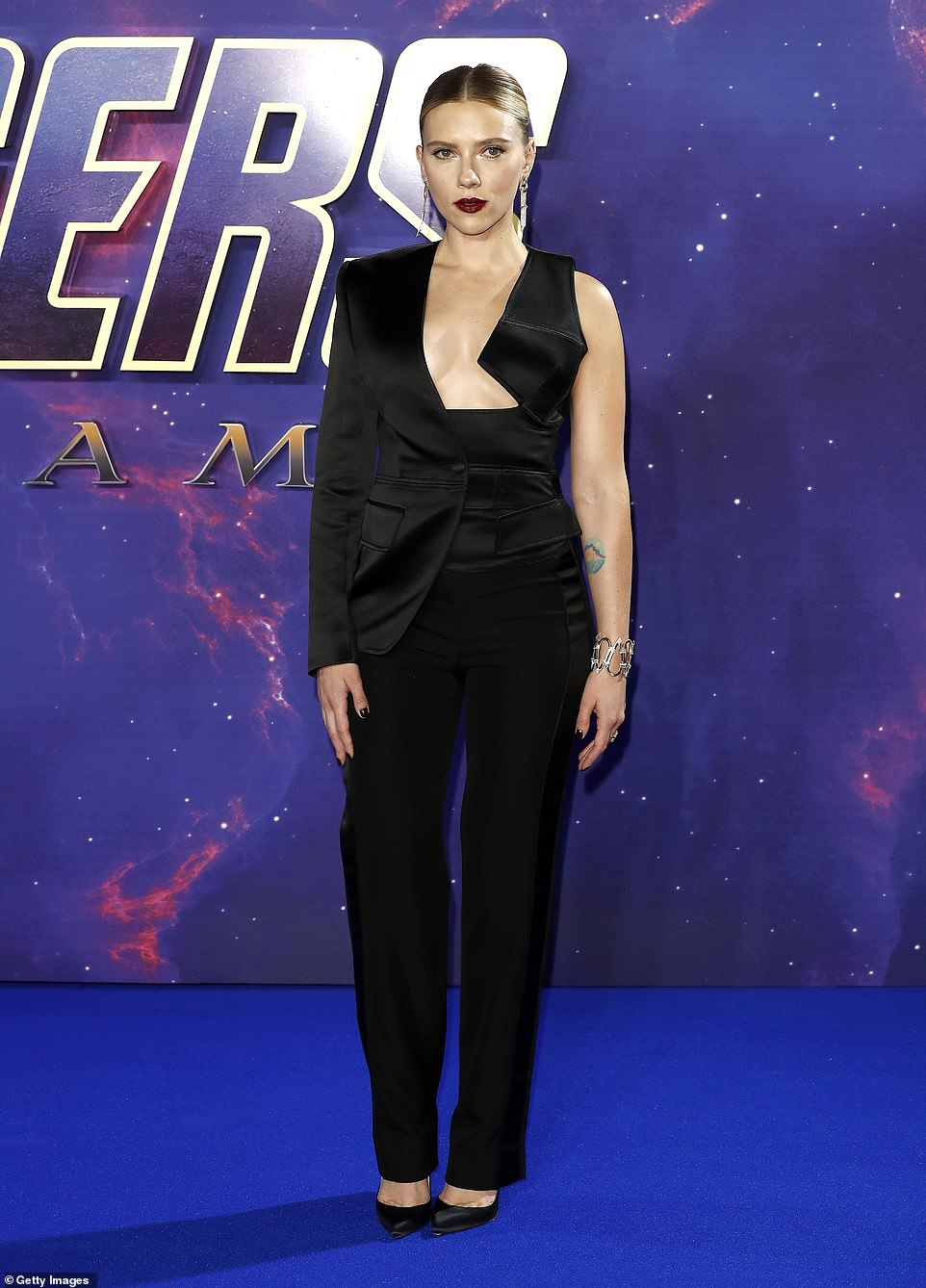 Scarlett Johansson goes daring at the Avengers: Endgame event in London