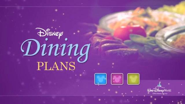 disney dinning plans
