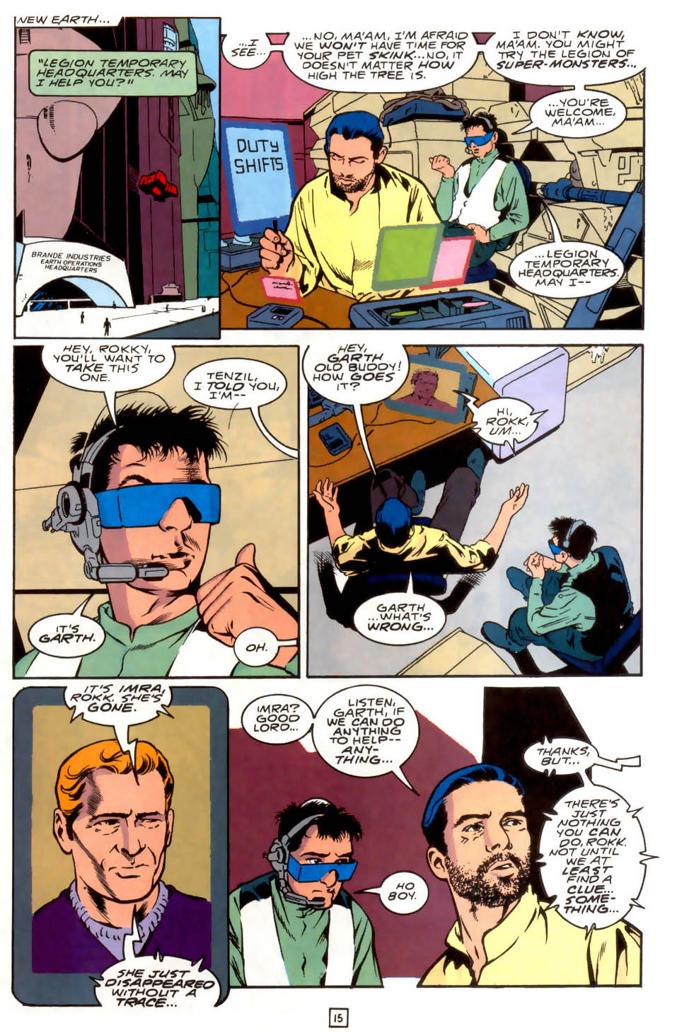 Legion of Super-Heroes (1989) 40 Page 15