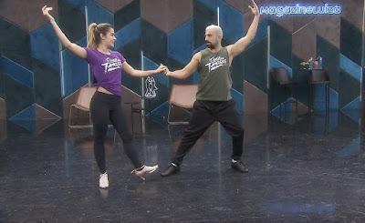 Kaysar Dadour ensaia com Mayara Araújo para a final do 'Dança dos Famosos' — Foto: Gshow