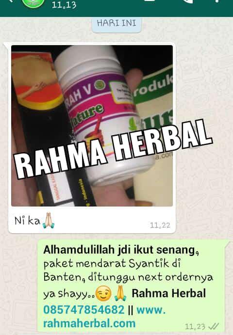 Bukti Isi Paket Terkirim Lengkap ke Alamat dari pelanggan Rahma Herbal