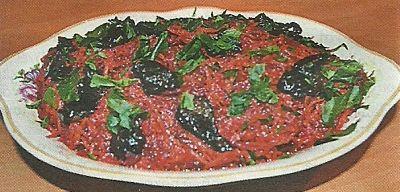Быстрое приготовление свекольного салата с сухофруктами