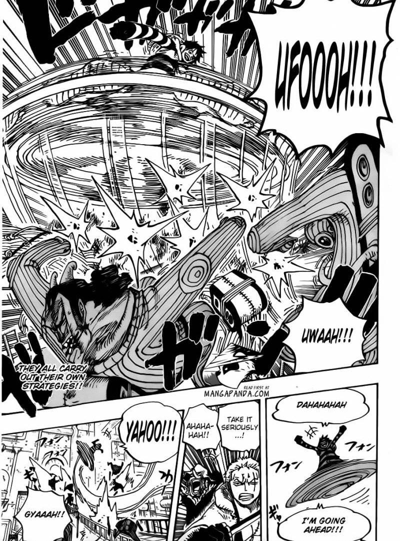 One Piece 678 : Inside the lab, lobby of building