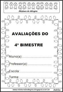 Capa de avaliação do 4º bimestre
